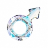 Swarovski Stone 4878 Male Symb 30x19mm Crystal Aurora Borealis U 2Pcs